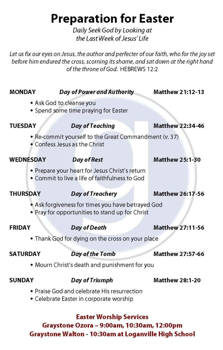 2013 Preparation for Easter - Walton & Ozora