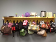 Diaper bags in Toddler Room