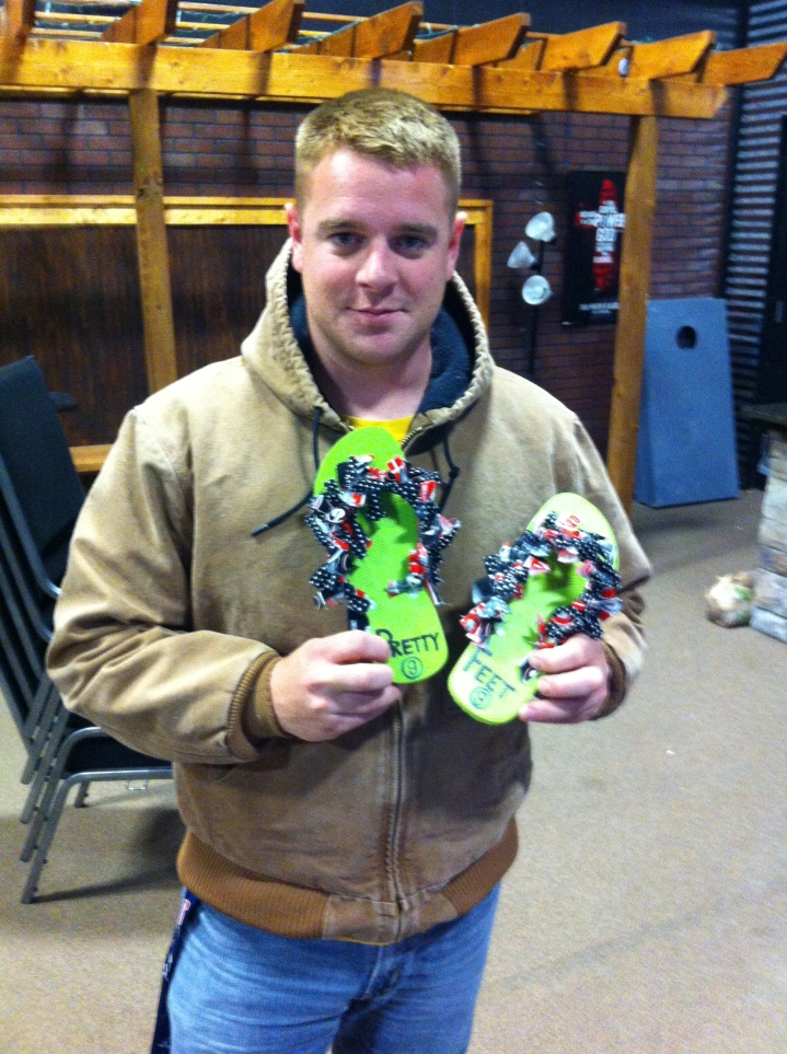 Aaron Findley wins the November Pretty Feet Award.