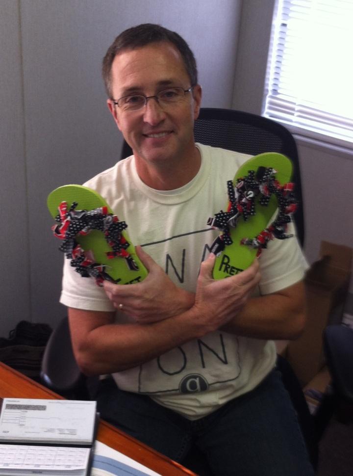 Ken Sirmans wins the October Pretty Feet Award.