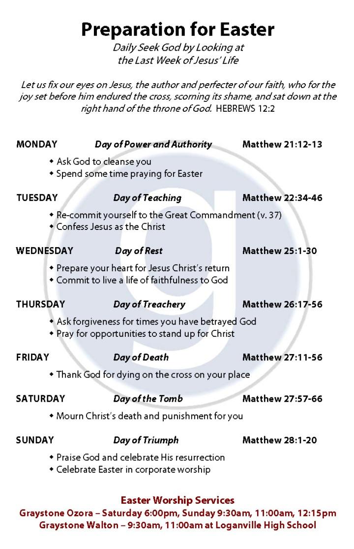 2014 Preparation for Easter - Walton & Ozora
