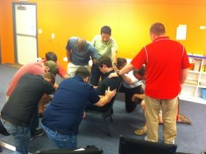 Graystone Elders praying for Alan