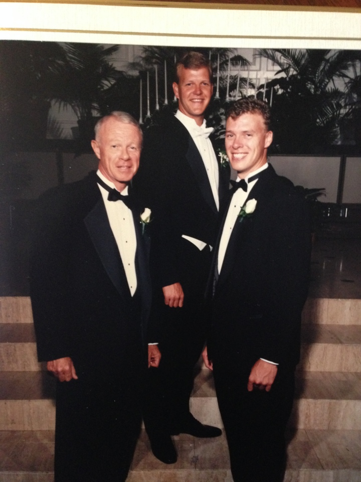 Best men on my wedding day (Sorry Dad for making you rent the tux instead of wearing your own)
