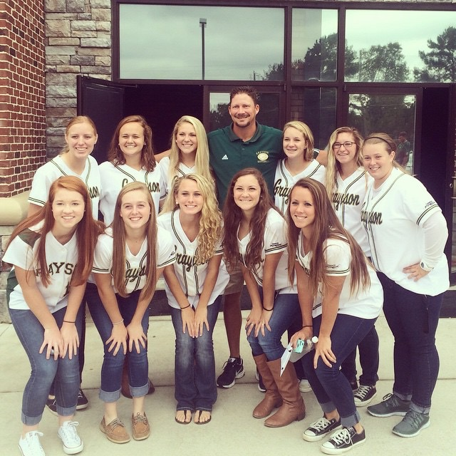 Coach Bill Batchelor and the Grayson Rams HS Softball Team