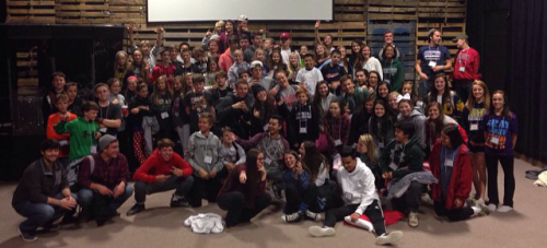 Around 100 students and adult volunteers participated in Fall Retreat.
