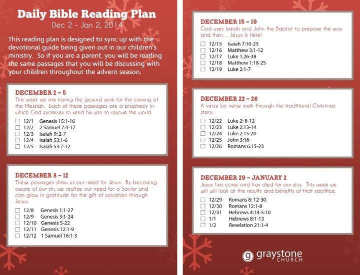 1. Advent Reading Plan