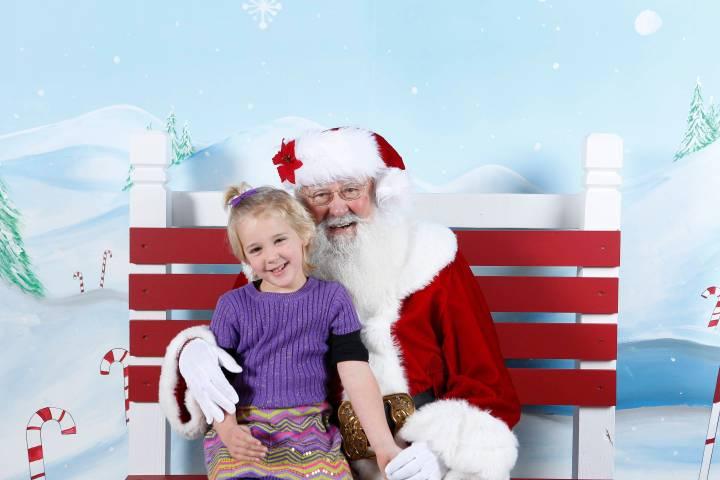 Jessie with Santa