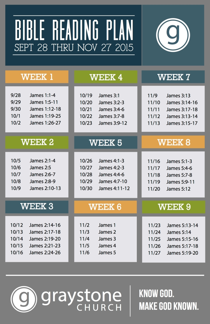James Reading Plan