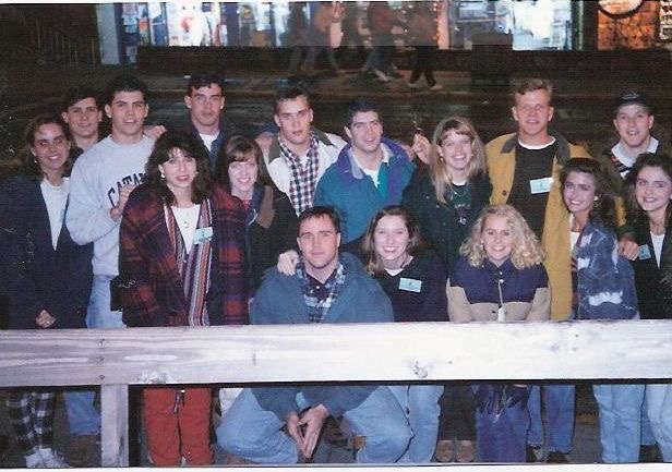 In December 1993 Jennifer and I with a group of college students in Gatlinburg, TN.